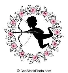 cupid into flower arrangement