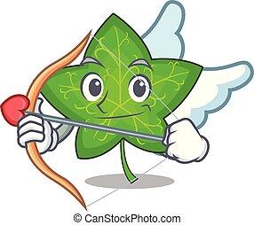 Cupid ivy leaf isolated on character cartoon