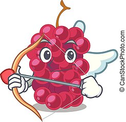 Cupid mulberry fruit on a cartoon table vector illustration
