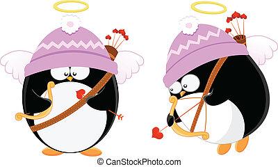 Cupid Penguins - Cute cupid penguins