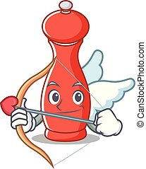 Cupid pepper mill character cartoon
