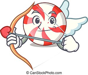 Cupid peppermint candy character cartoon