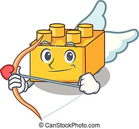 Cupid plastic building blocks cartoon on toy