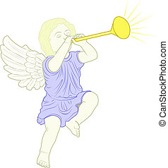 cupid played trumpet