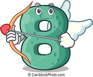 Cupid raster version cartoon shaped Number Eight