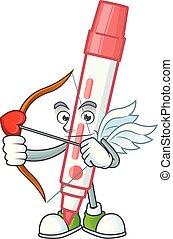 Cupid red white board marker in cartoon