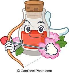 Cupid rosehip seed oil in cartoon bottle