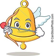 Cupid school bell character cartoon