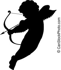 cupid silhouette front view