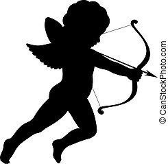 cupid silhouette shooting