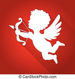Cupid Silhouette with Long Shadow