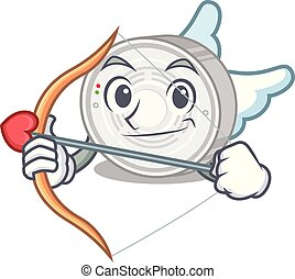Cupid smoke detector attached the character wall vector...