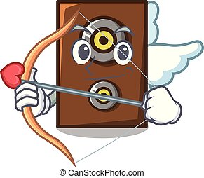 Cupid speaker character cartoon style