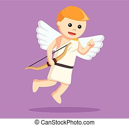 cupid with bow  illustration design