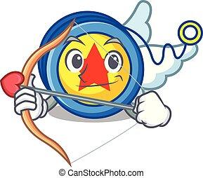Cupid yoyo character cartoon style vector illustration