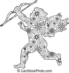 cupido, zentangle
