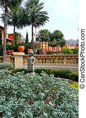 cupidon, jardin anglais