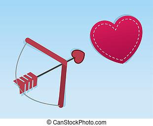 Cupid's Arrow Heart