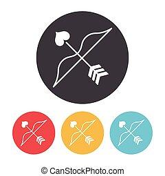 Cupid's arrow icon