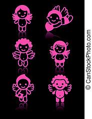 Cupids set, pink