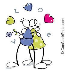 cuple, engraçado, amor