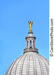 Cupola of Capitol - Cupola, of the Capitol of Wisconsin in...