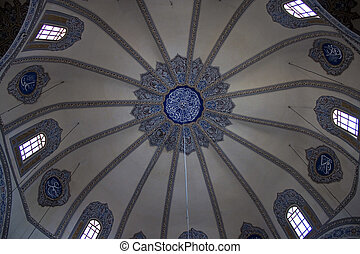 Cupola of little Hagia Sofia mosque in Istanbul, Turkey