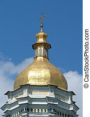 Cupola of Sofiysky orthodox cathedral in Kiev, Ukraine