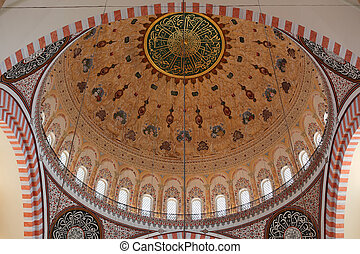 Cupola of the Suleymaniye mosque in Istanbul