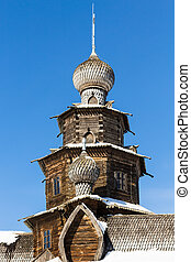 cupola of wooden Transfiguration Church in Suzdal