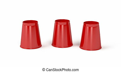 Cups and a ball - Three cups and a ball game