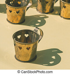 Cups in a shape of heart