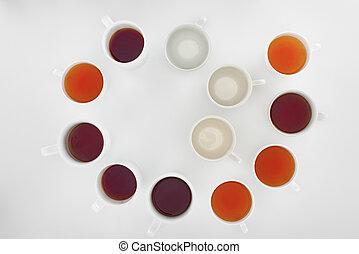cups of herbal tea