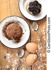 chocolate pudding - Cups of the chocolate pudding