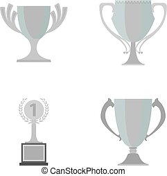 Cup.Wineer cup set collection icons in monochrome style vector symbol stock illustration web.
