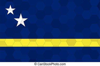 Curacao flag illustration. Futuristic Curacaoan flag graphic...