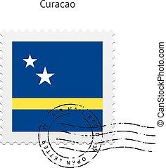 Curacao Flag Postage Stamp. - Curacao Flag Postage Stamp on ...