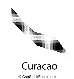 Curacao map geometric background texture