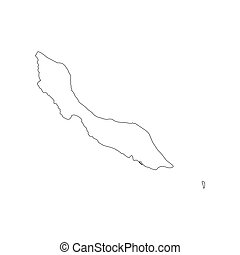 Curacao map silhouette - Curacao map on the white background...