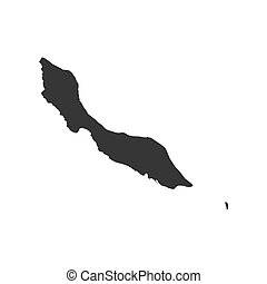 Curacao map silhouette