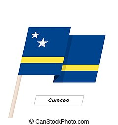 Curacao Ribbon Waving Flag Isolated on White. Vector ...