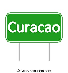 Curacao road sign. - Curacao road sign isolated on white ...