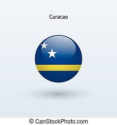Curacao round flag. Vector illustration. - Curacao round ...