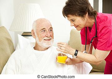 curación, potencia, de, jugo de naranja