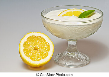 curd with lemon