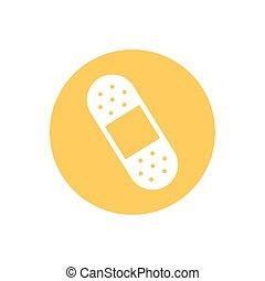 cure bandage medical, block and flat style icon