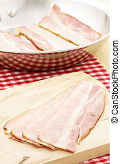 cured delicious bacon - fresh bacon specially smoked and...