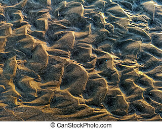 Curios formation made by water in the sand