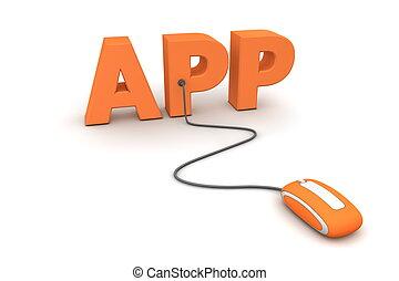 curiosare, il, app, -, arancia, topo