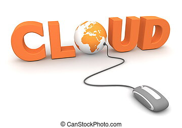 curiosare, il, globale, nuvola, -, grigio, topo